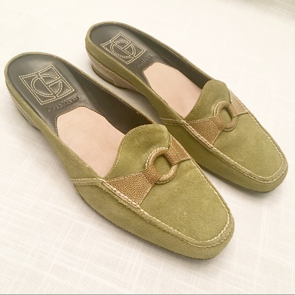 Cole Haan Shoes - Cole Hann Nike Air olive suede mules